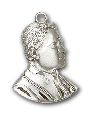 Sterling Silver Saint Pius X Pendant