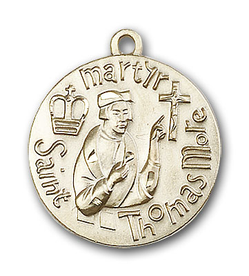 14K Gold St. Thomas More Pendant - Engravable
