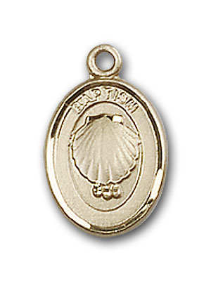 14K Gold Baptism Pendant