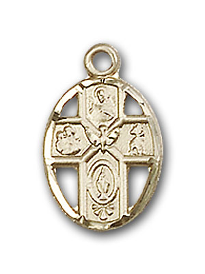 14K Gold 5-Way Pendant