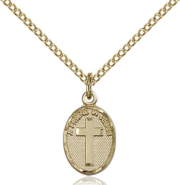 Gold-Filled Friend In Jesus Cross Pendant