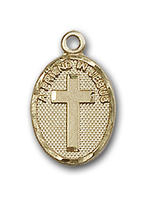 14K Gold Friend In Jesus Cross Pendant
