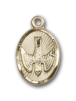 14K Gold Holy Spirit Pendant
