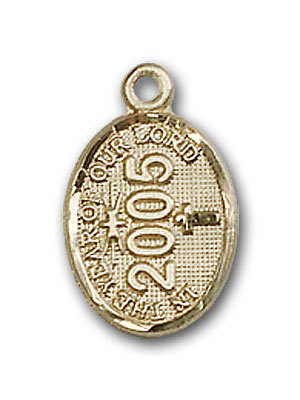 14K Gold Year Charm Pendant