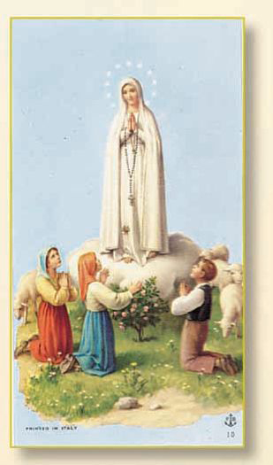 100-Pack - Our Lady Of Fatima Holy Card