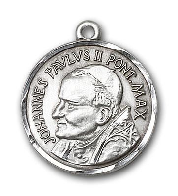 Sterling Silver St. Pope John Paul II Pendant