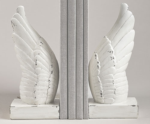 9.75-inch H 2Pc Set Wing Bookends