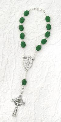 Celtic Auto Rosary with Shamrocks
