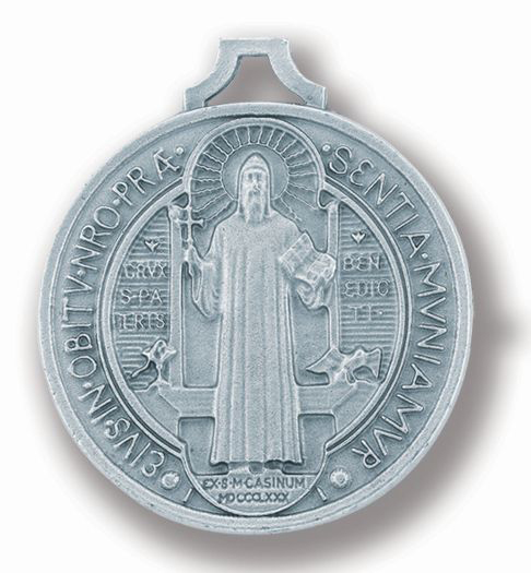"1 1/2"" Antique Silver St. Benedict Jubilee Medal 25-Pack"
