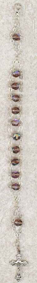 Crystal Ladder Rosary Bracelet - Amethyst