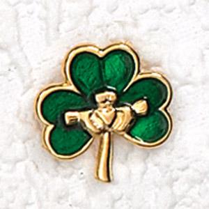 12-Pack - IRISH SHAMROCK LAPEL PIN
