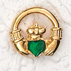 12-Pack - IRISH CLADDAGH LAPEL PIN