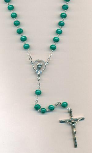 Green Jade Deluxe Multi patern Imitation Stone rosary (Boxed)