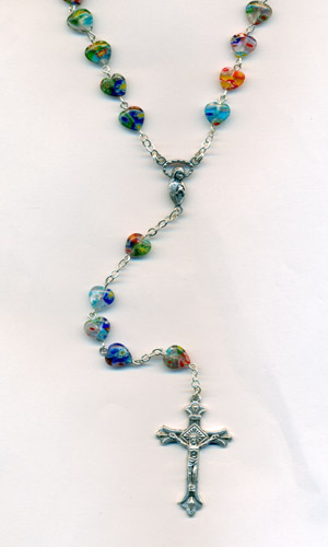 7mm Murano Glass Rosary