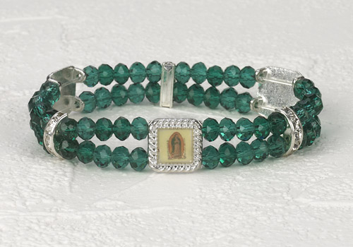 Lady of Guadalupe Crystal double Strand Bracelet