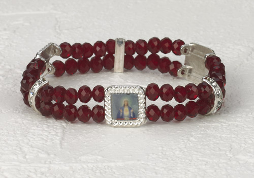 Immaculate Heart Crystal double Strand Bracelet
