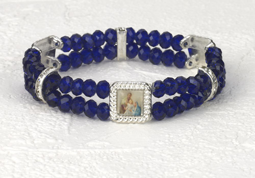 Holy Family Crystal double Strand Bracelet