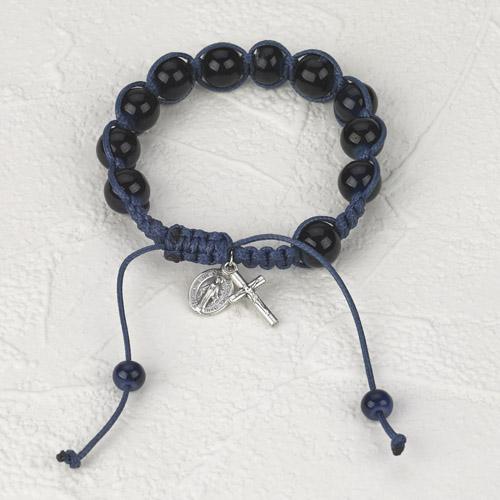 6-Pack - Slip knot bracelet- Black