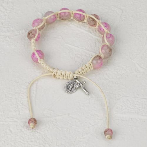6-Pack - Slip knot bracelet- Flowers