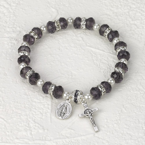 Italian Crystal Bracelet- Purple