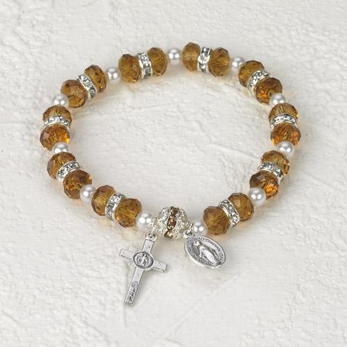 Italian Crystal Bracelet- Amber