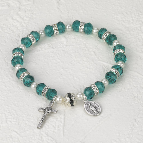 Italian Crystal Bracelet- Green