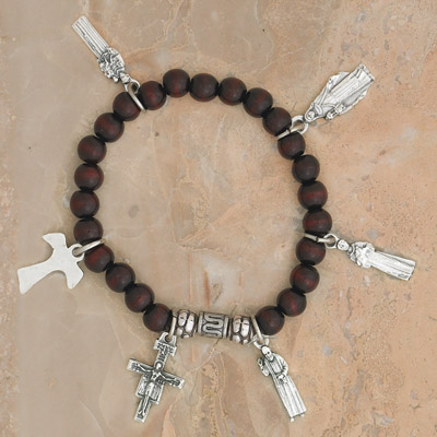 4-Pack - Franciscan Saints Stretch Bracelet