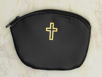 12-Pack - Black Large Rosary Pouch