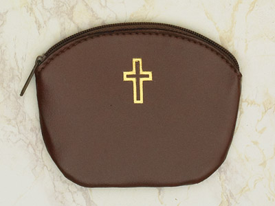 12-Pack - Brown Large Rosary Pouch