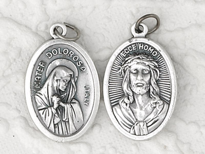 25-Pack - Pendant-MATER DOLOROSA (LADY OF SORROWS)/ ECCE HOMO
