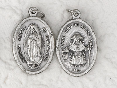 25-Pack - Pendant-LADY OF GUADALUPE/ INFANT OF ATOCHE