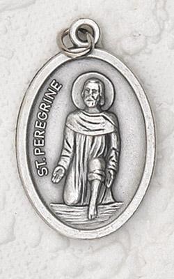 25-Pack - St Peregrine Oxidized Pendant