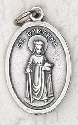 25-Pack - St Dymphna Oxidized Pendant