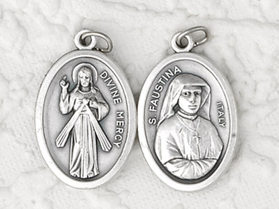 25-Pack - Pendant- ST FAUSTINA/ DIVINE MERCY