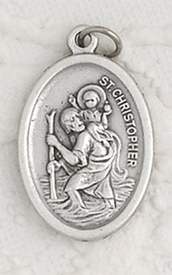 25-Pack - St Christopher Oxidized Pendant