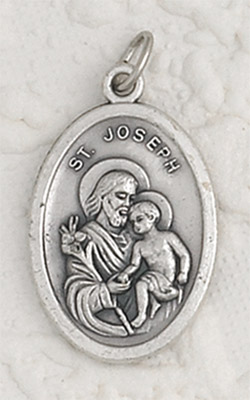 25-Pack - St Joseph Oxidized Pendant