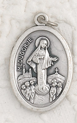 25-Pack - Lady of Medjugorje Oxidized Pendant