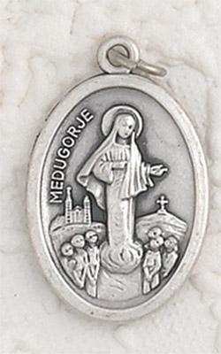 25-Pack - Lady of Medjugorje Oxidized Pendant