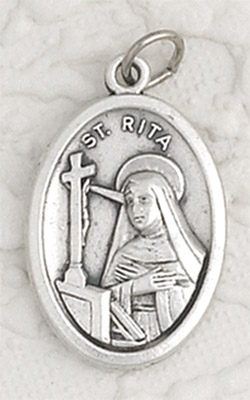 25-Pack - St Rita Oxidized Pendant