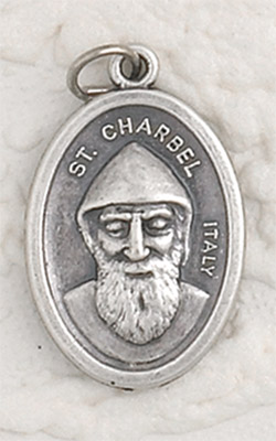 25-Pack - St Charbel Oxidized Pendant