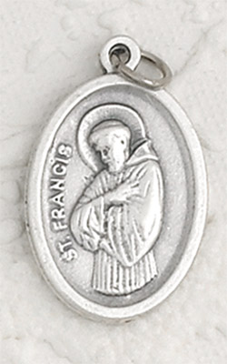 25-Pack - St Francis Oxidized Pendant