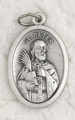25-Pack - ST PETER  -  Oxidized Pendant