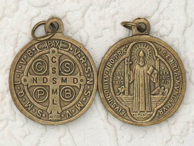 25-Pack - 1 Inch St Benedict Pendant - Brass