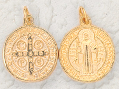 25-Pack - 1 Inch St Benedict Pendant - Gold
