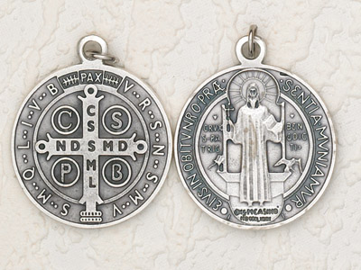 3-Pack - 2-1/2 Inch St Benedict Pendant Silver