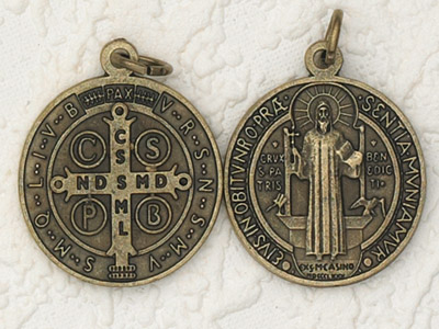 3-Pack - 2-1/2 Inch St Benedict Pendant Brass