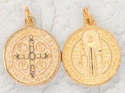 50-Pack - Gold St Benedict Pendant- 11cm