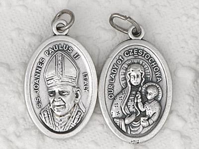 25-Pack - Pendant-Pope John Paul II/Czestochowa