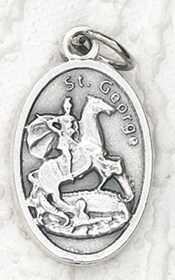 25-Pack - Oxidized Pendant-St George