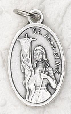 25-Pack - Oxidized Pendant-St Joan of Arc